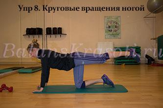 Упр 8. Круговые вращения ногой
